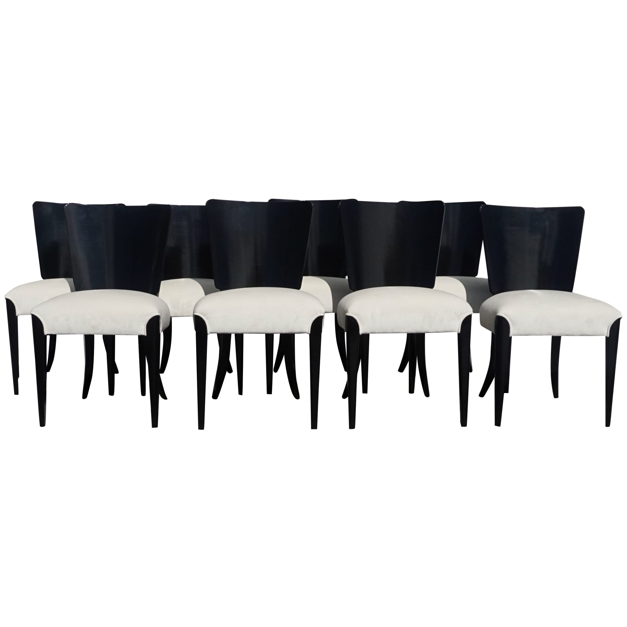 Set of Eight Art Deco Chairs by Jindrich Halabala