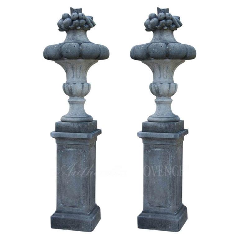 Pair of Gaudronee Urns