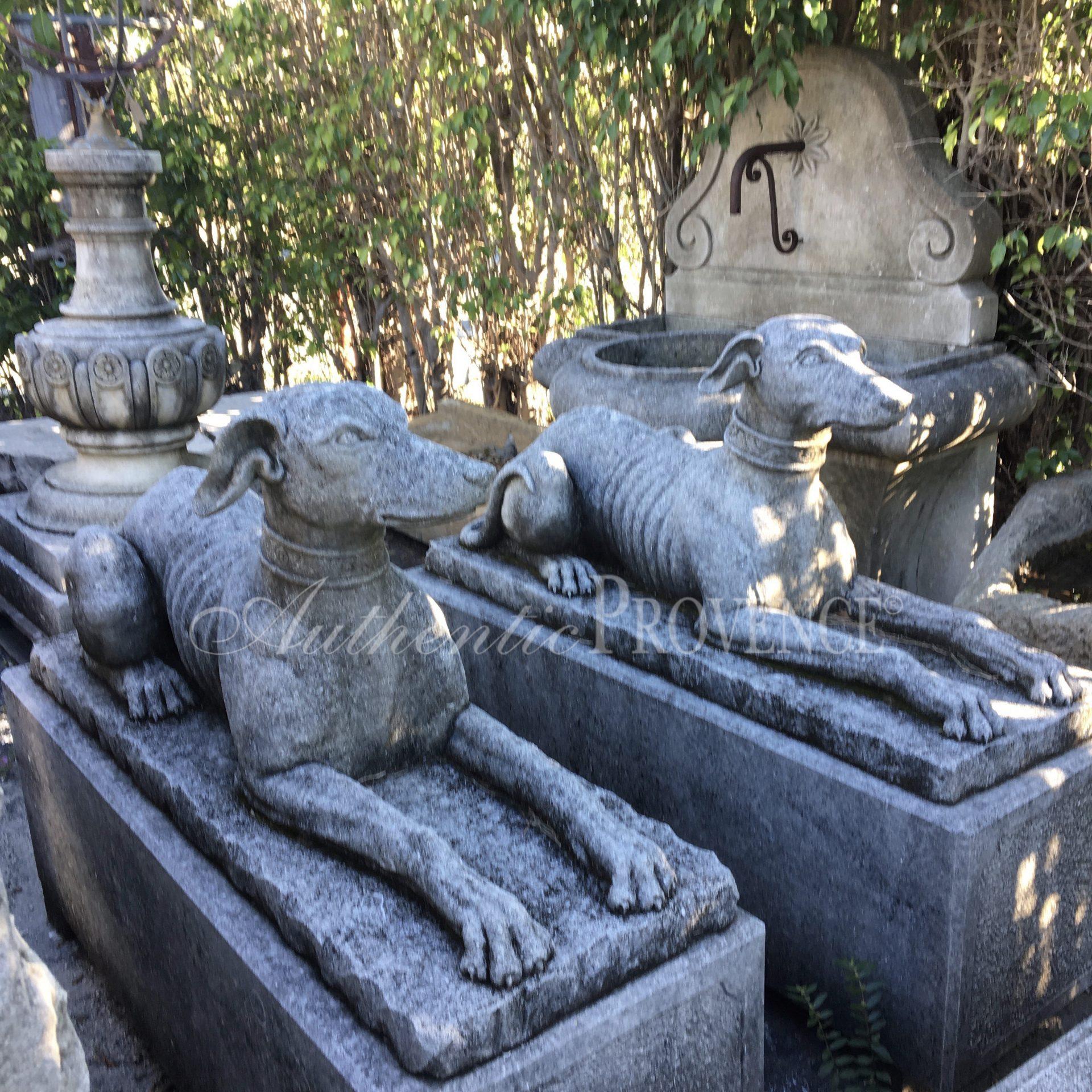 Pair of Levrier Statues