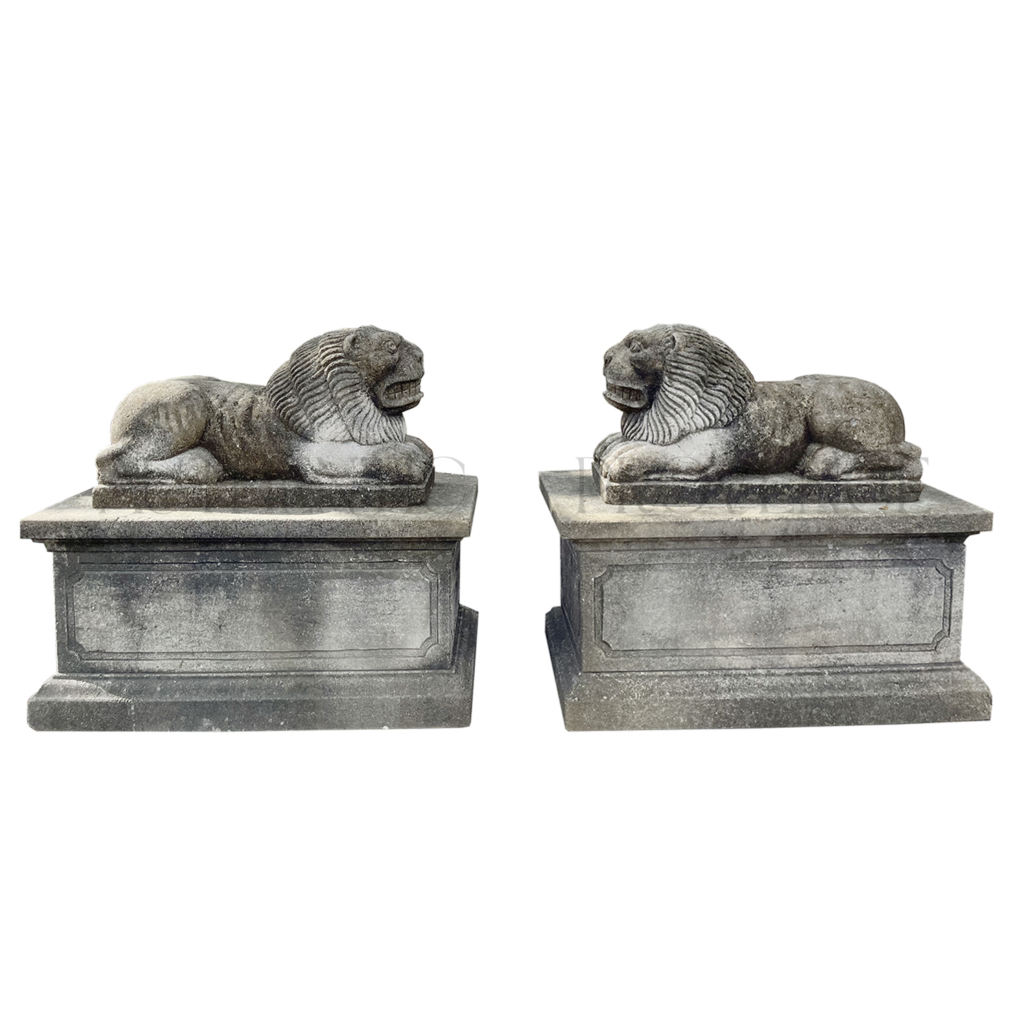 Pair of Byzantine Style Lions