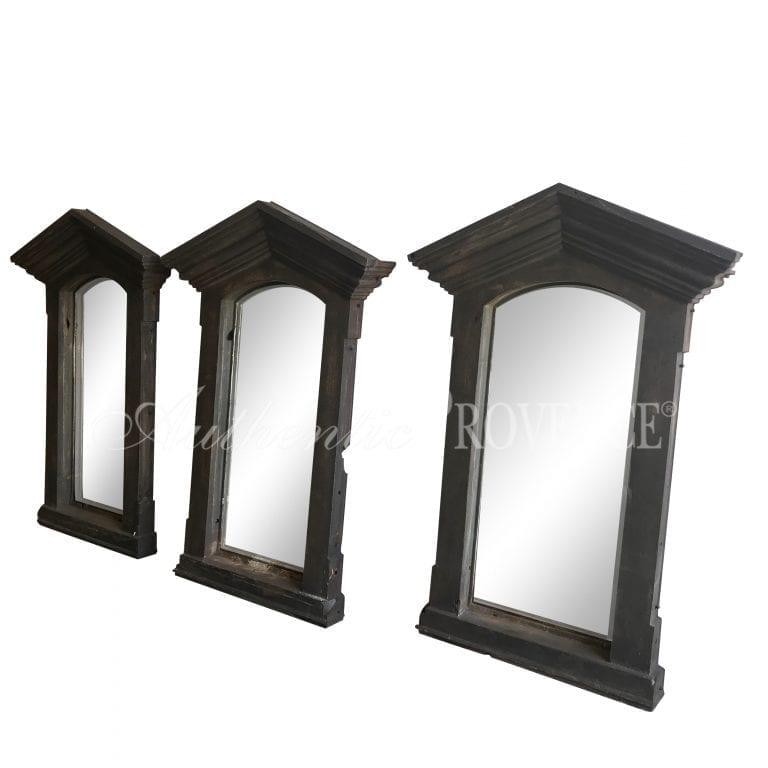 Set of Three French Window Surround Mirrors