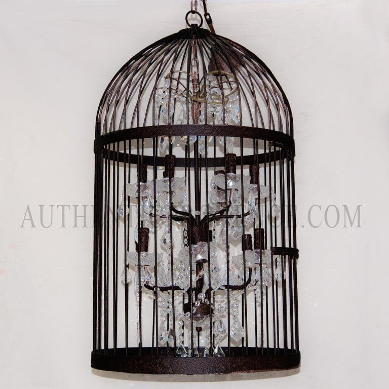 Chandelier Cage A Oiseaux