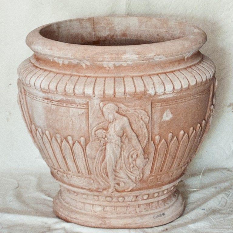 Vaso Con Vestali Planter