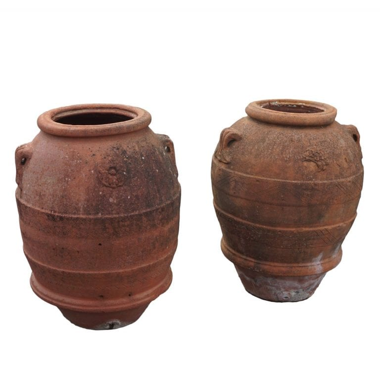 Pair of Orci Rosette Urns