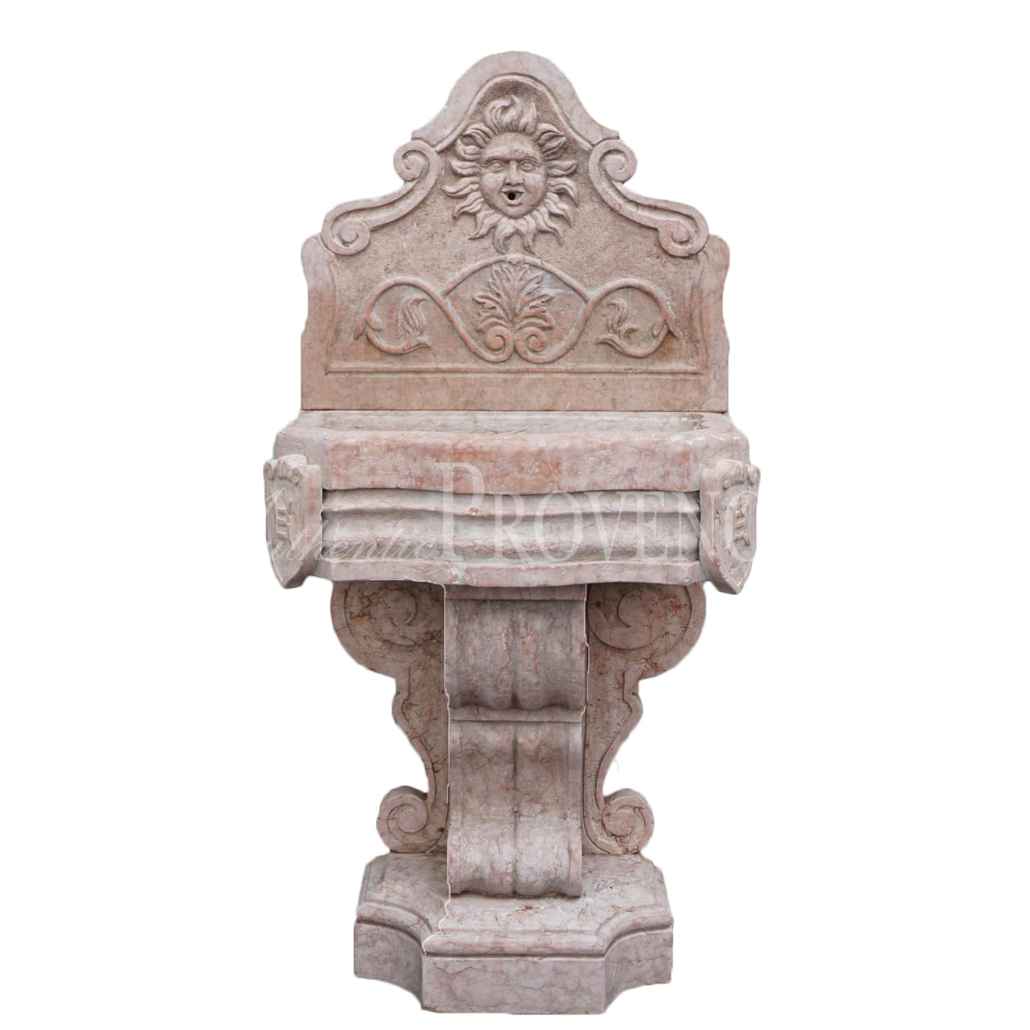 Renaissance Style Marble Italian Wall Fountain