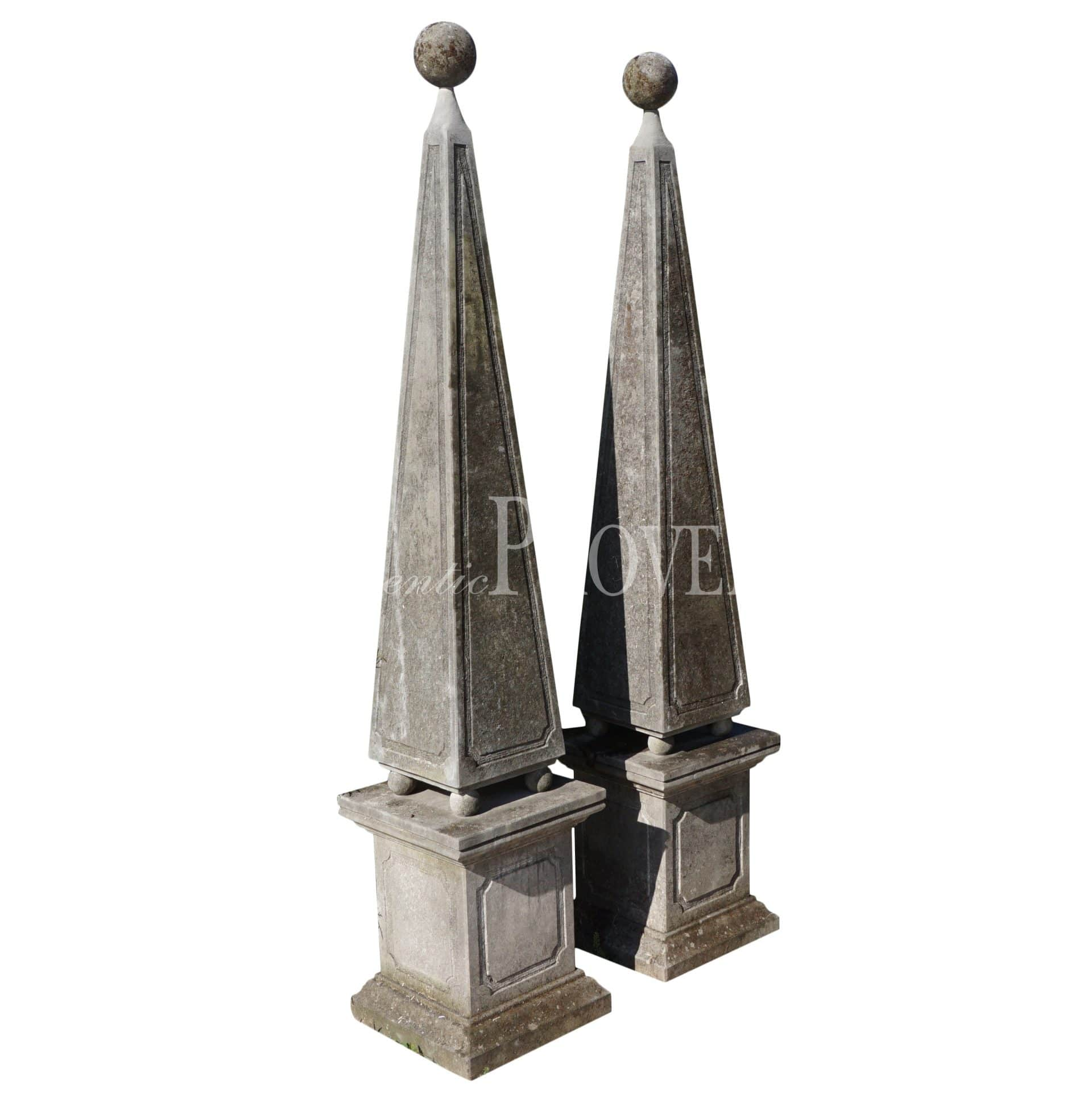 Pair of Neoclassical Style Obelisques
