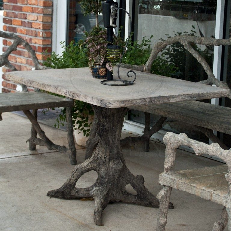 Faux Bois Rectangular Table