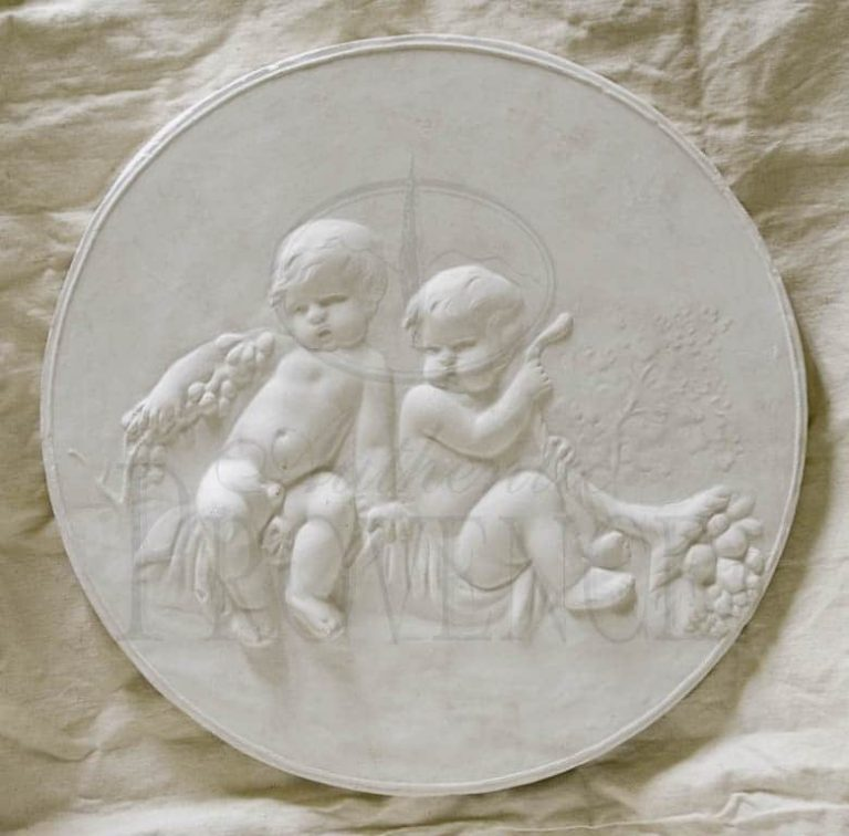 Wall Relief of Two Children