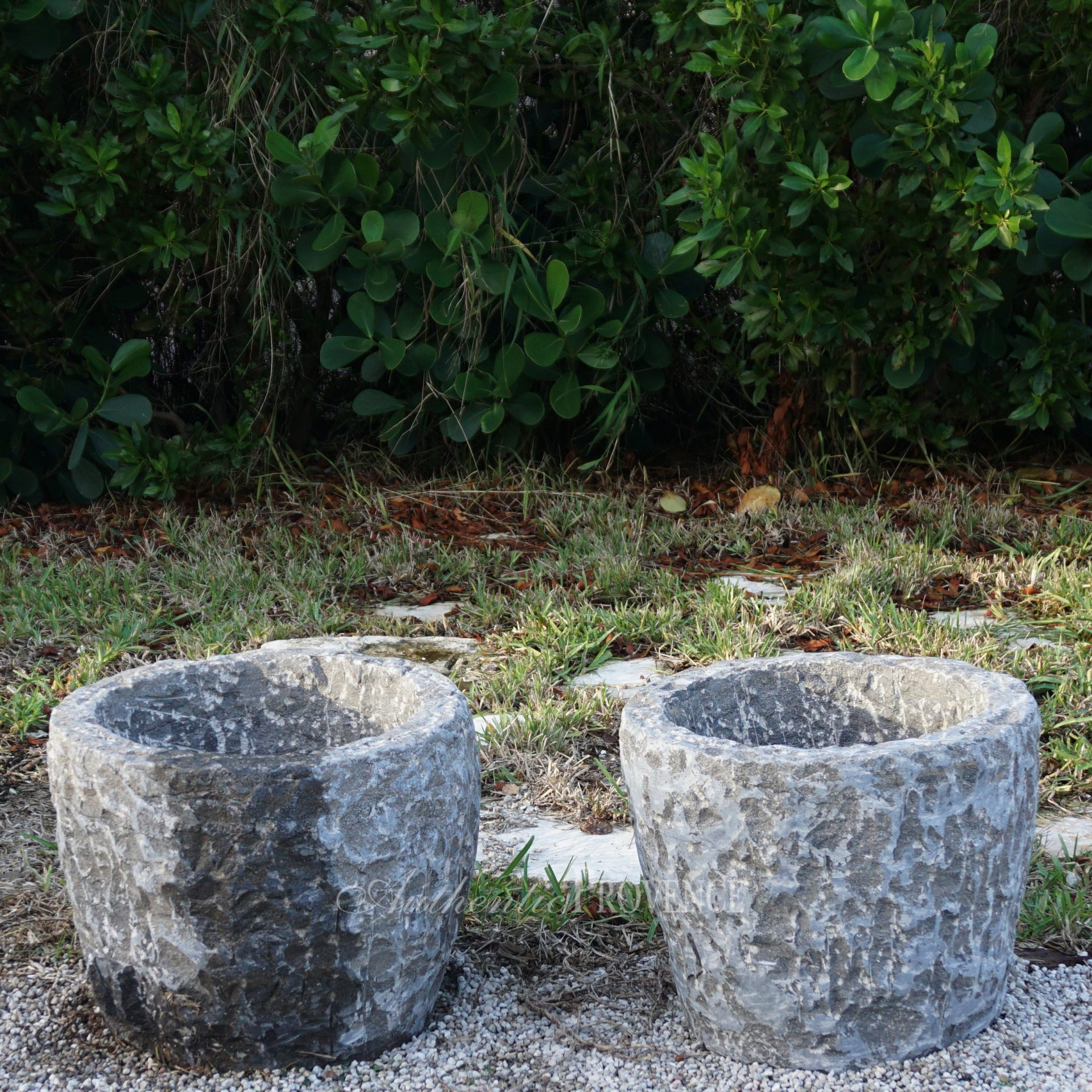 Pair of Antique Granite Tubs