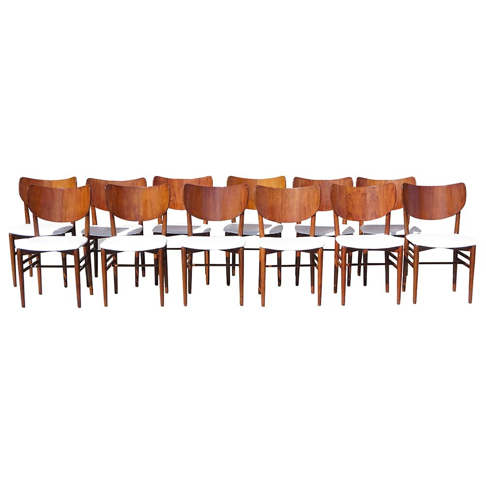20th Century Danish Set of Twelve Oakwood Dining Chairs by Nils & Eva Koppel