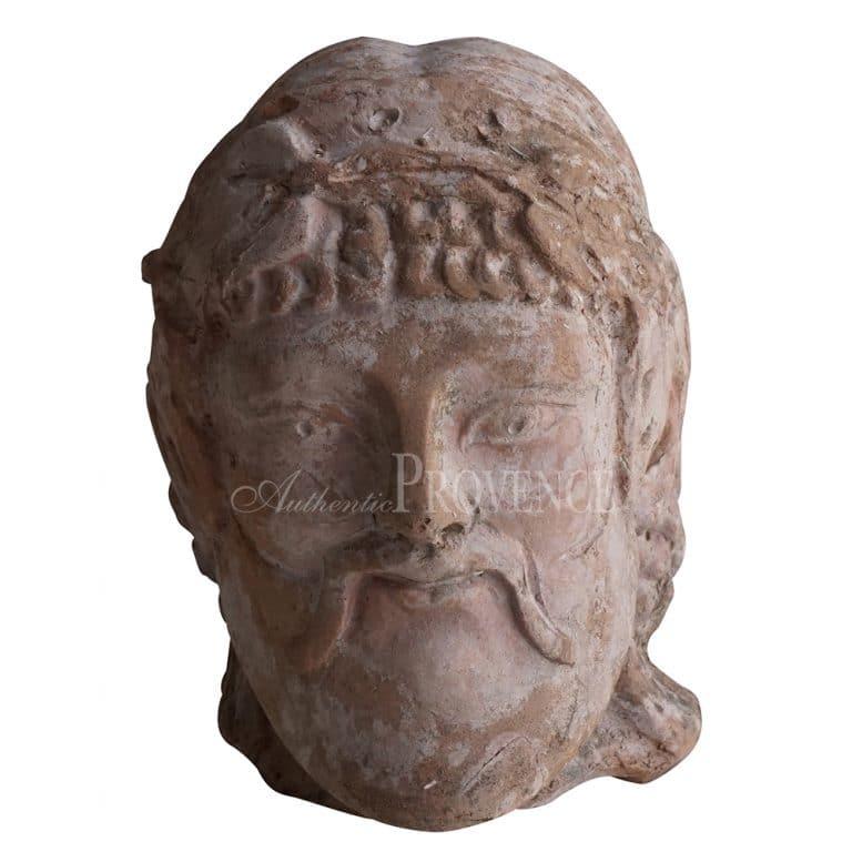 20th Century Etruscan Bacchus Head – Italian Terra Cotta Décor