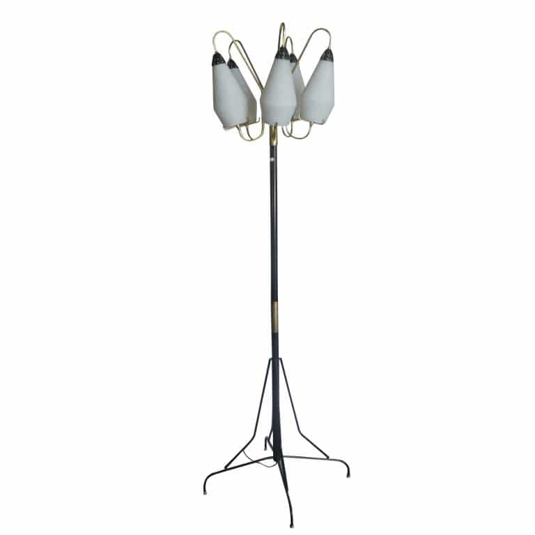 20th Century Italian Murano Glass Floor Lamp by Stilnovo