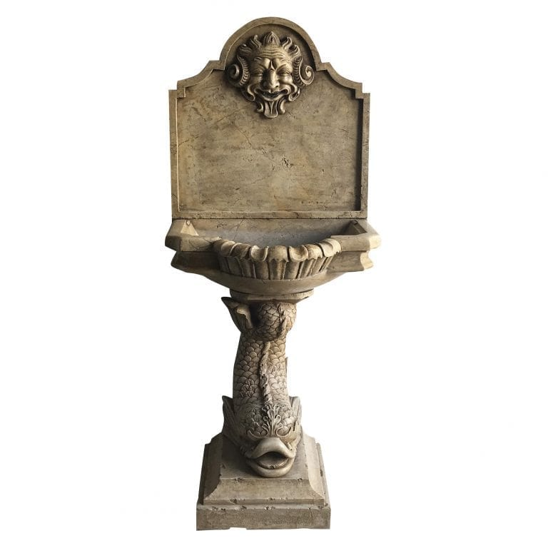 19th Century Italian Marble Wall Fountain