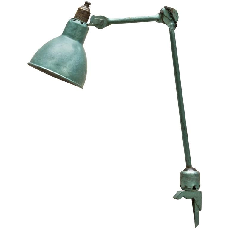 20th Century French Industrial Table Metal Lamp by Bernard-Albin Gras