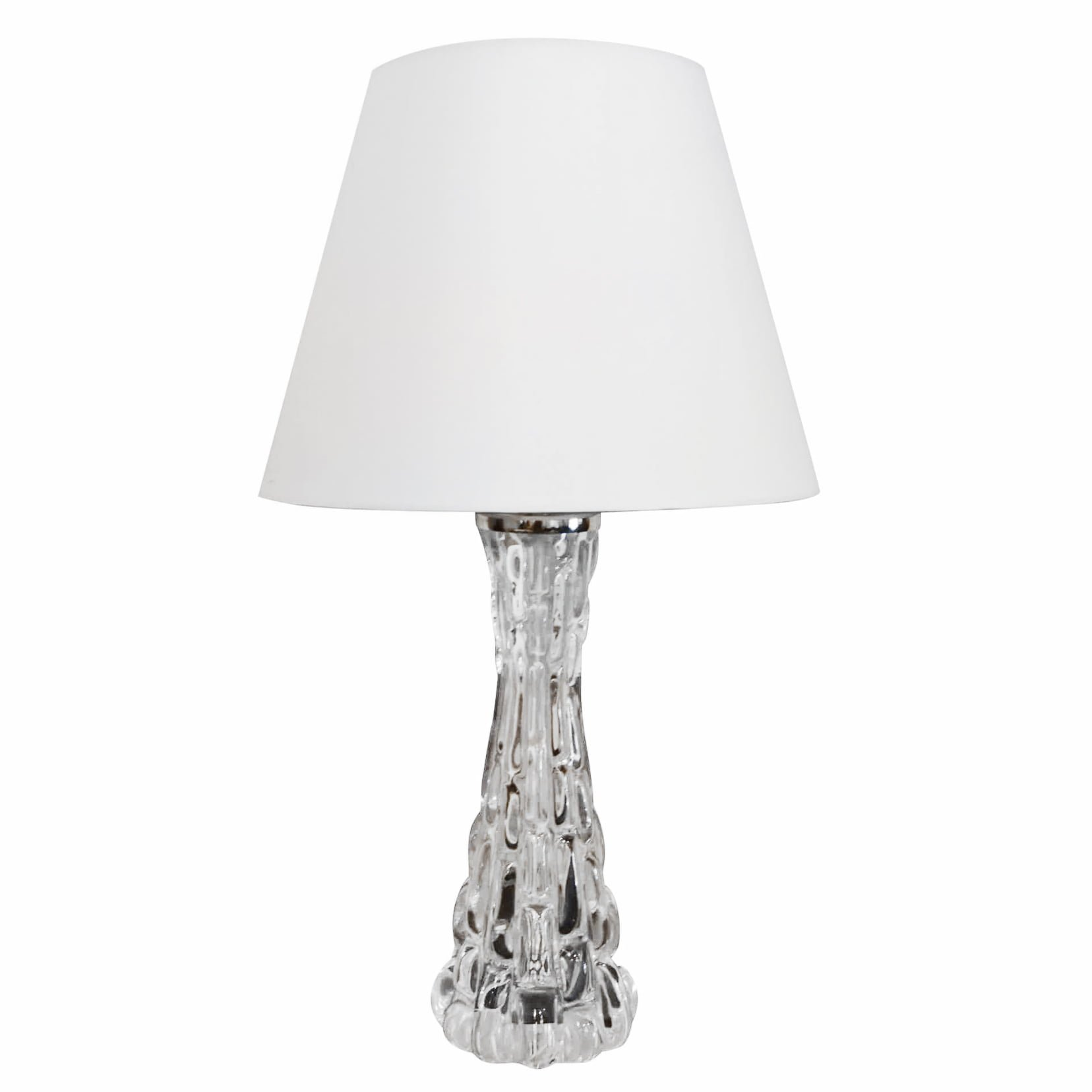 20th Century Clear Orrefors Table Lamp – Swedish Desk Lamp by Carl Fagerlund