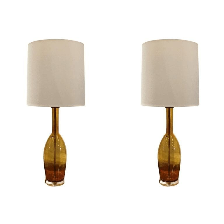 Pair of Murano Glass Table Lamps by Balboa
