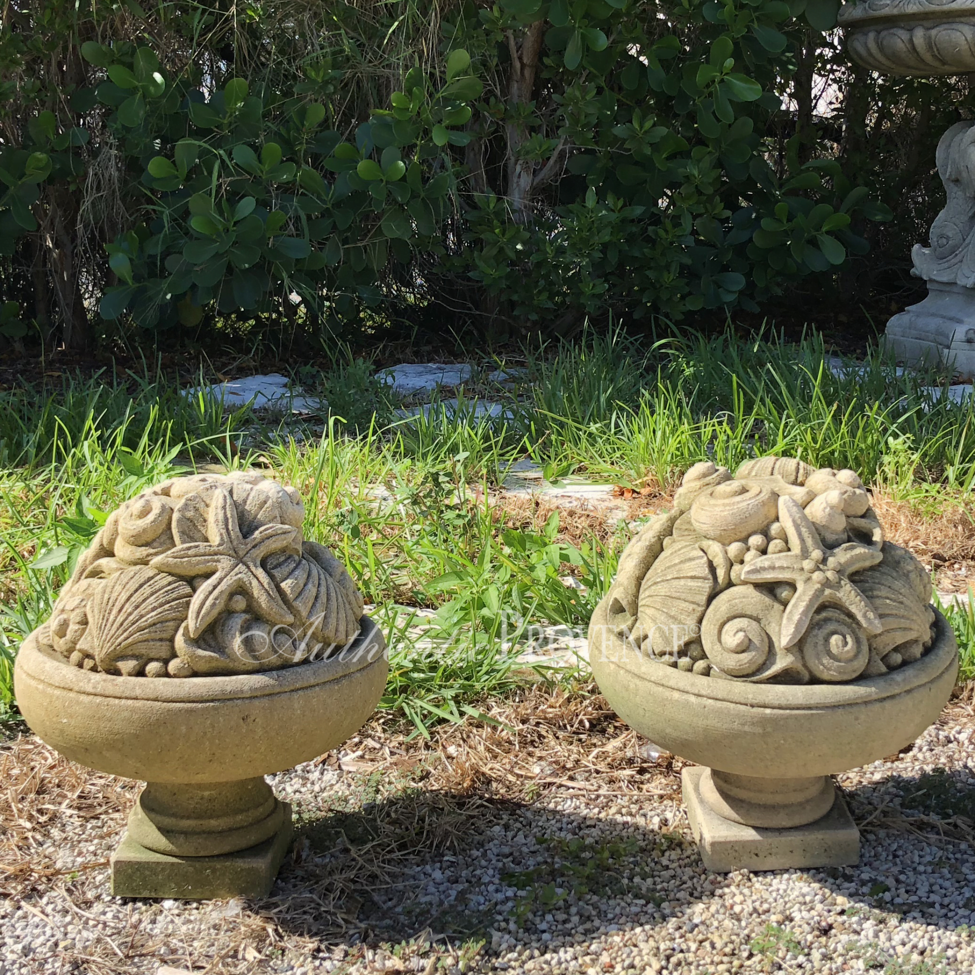 Pair of Sea Life Finials