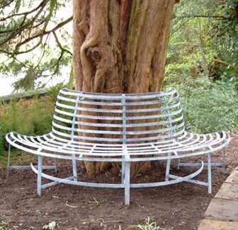 Roll Back Tree Bench