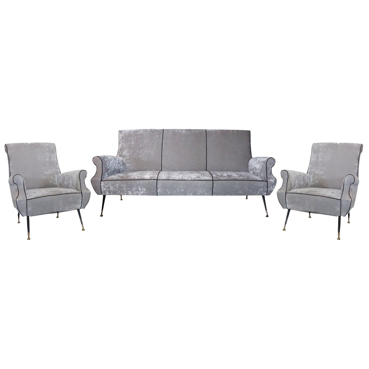 20th Century Italian Minotti Living Room Set by Gigi Radice