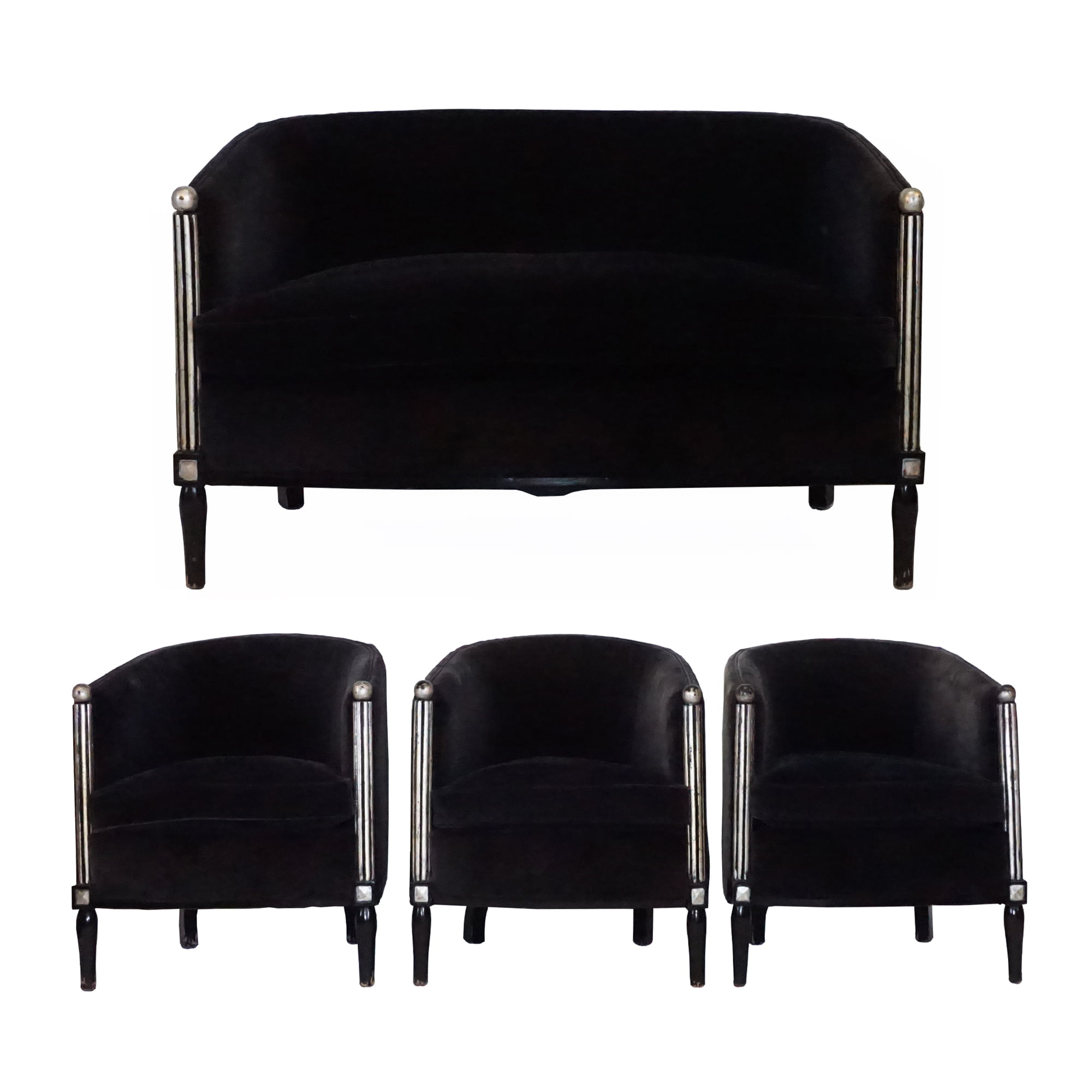20th Century Parisian Art Deco Living Room Set