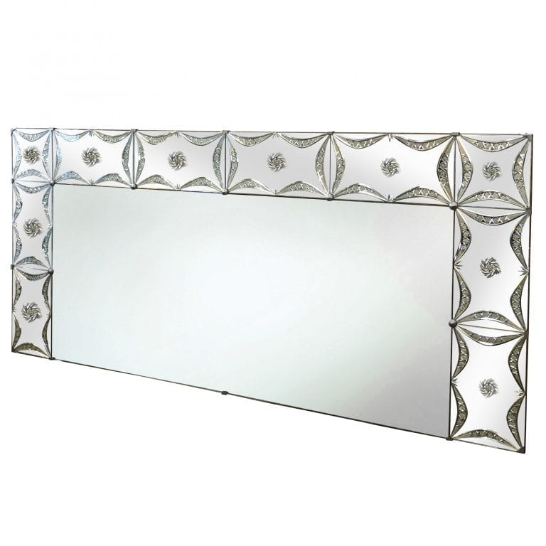 20th Century French Horizontal Art Deco Wall Mirror