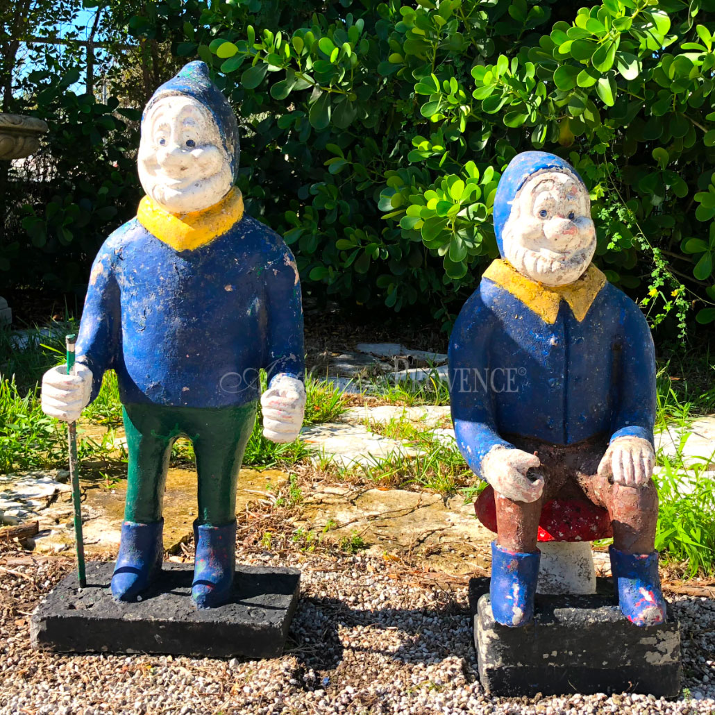 Pair of Polychrome Gnomes