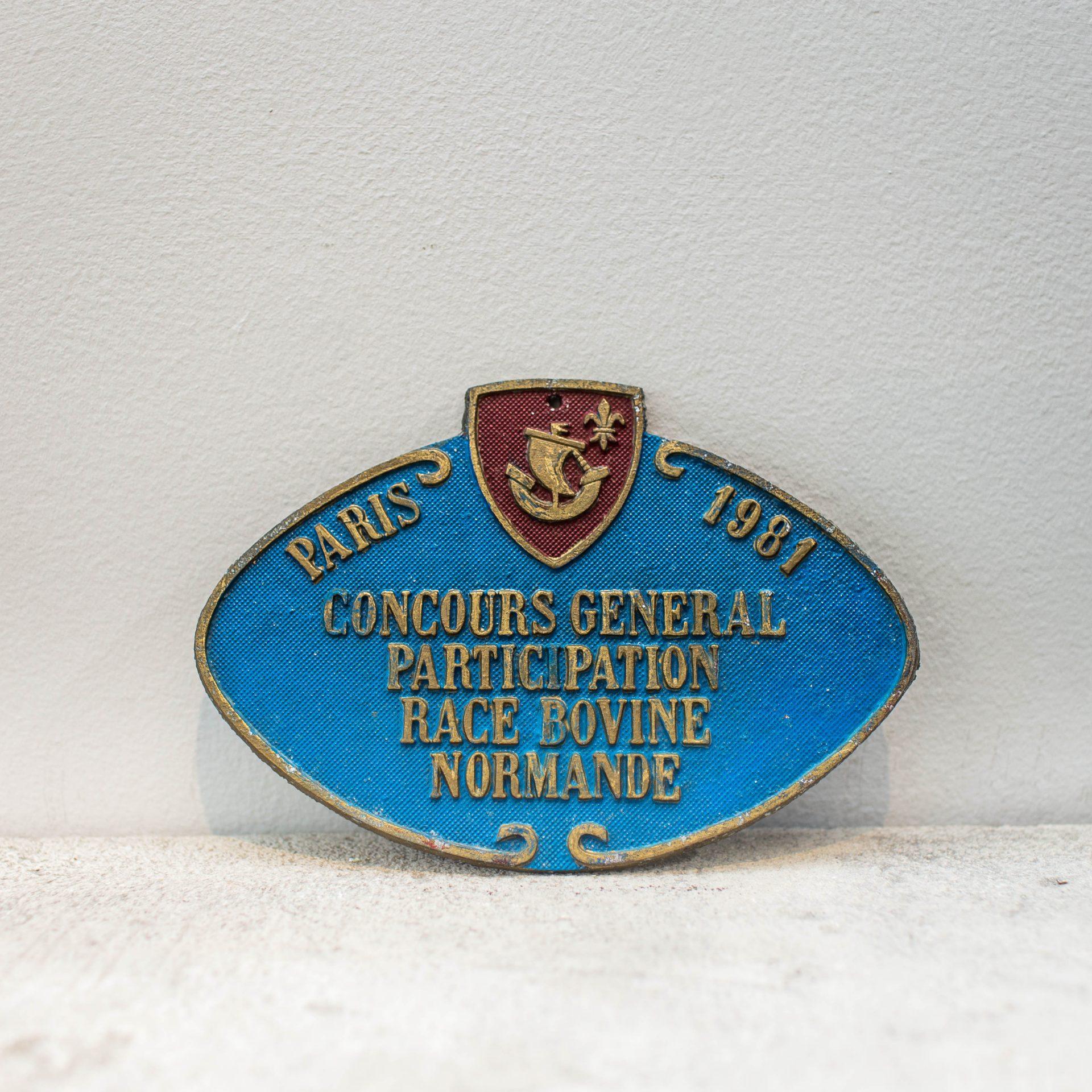 Plaque Métalique 1981