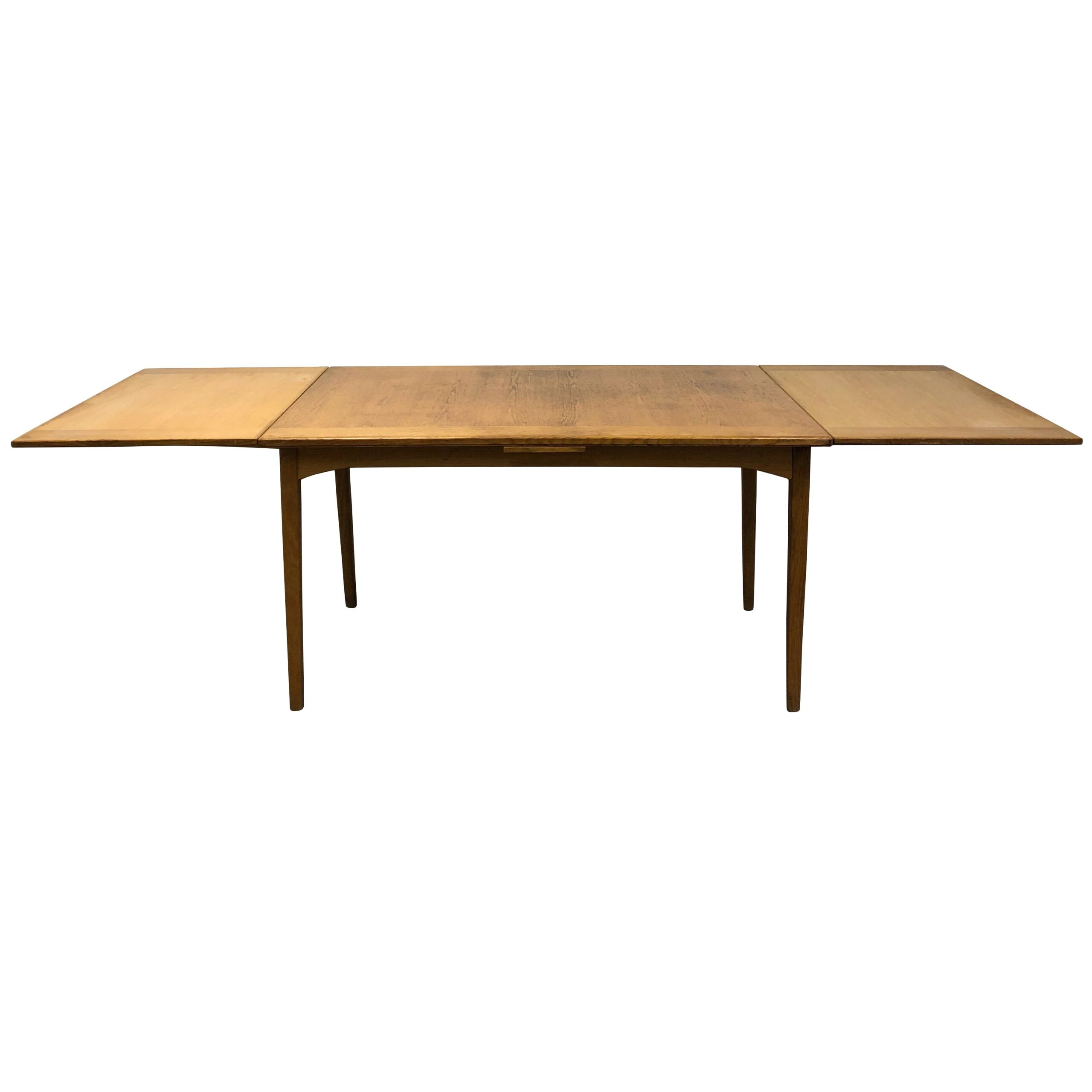 20th Century Swedish Walnut Extendable Dining Table by Carl Malmsten