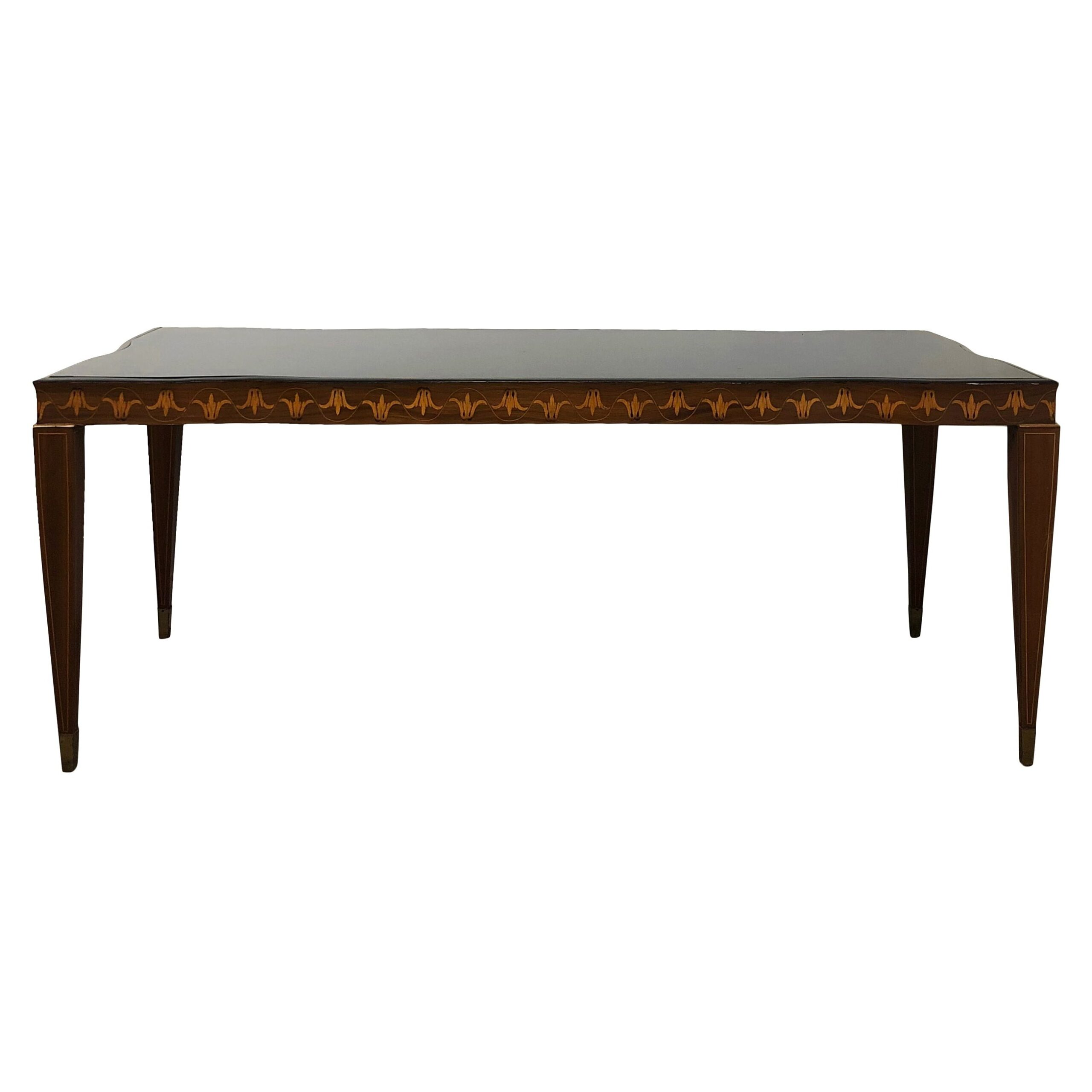 20th Century Italian Rectangular Rosewood Dining Table by Paolo Buffa