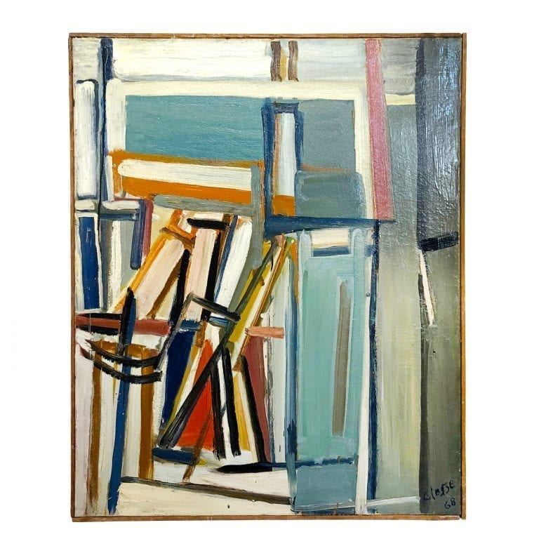 Books on Canvas Painting by Daniel Clesse