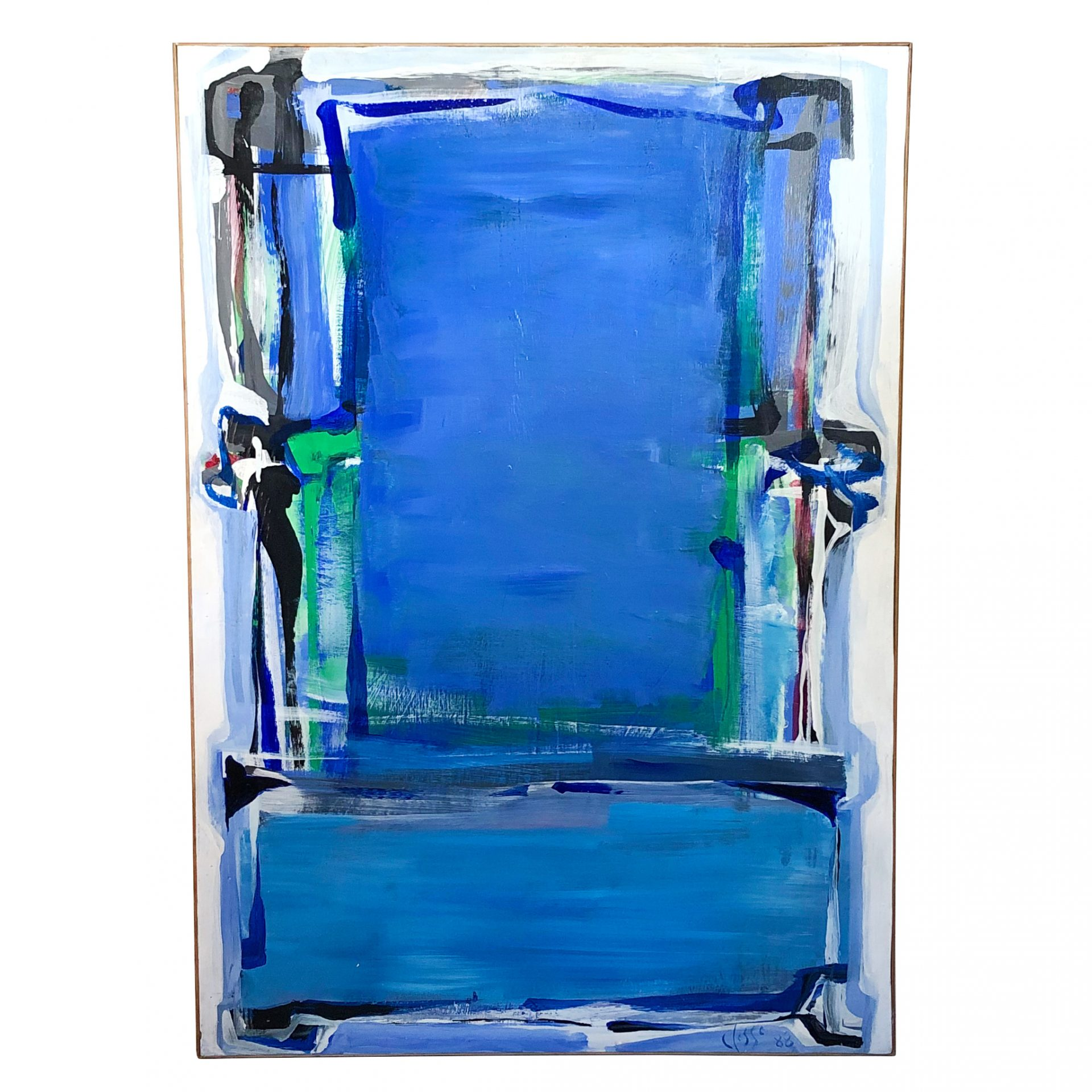 20th Century French Abstract Painting of a Chair by Daniel Clesse