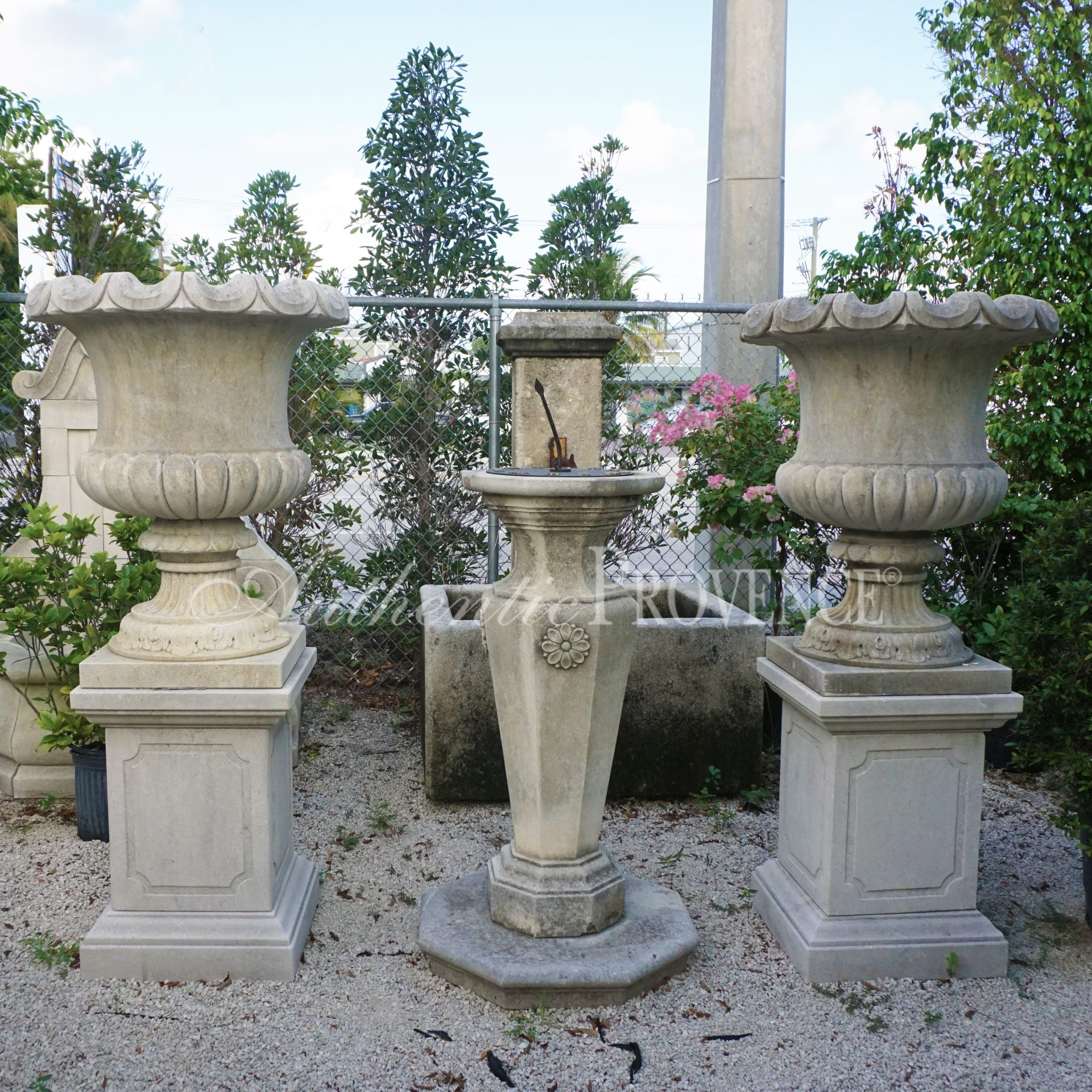 Pair of Campana Urns
