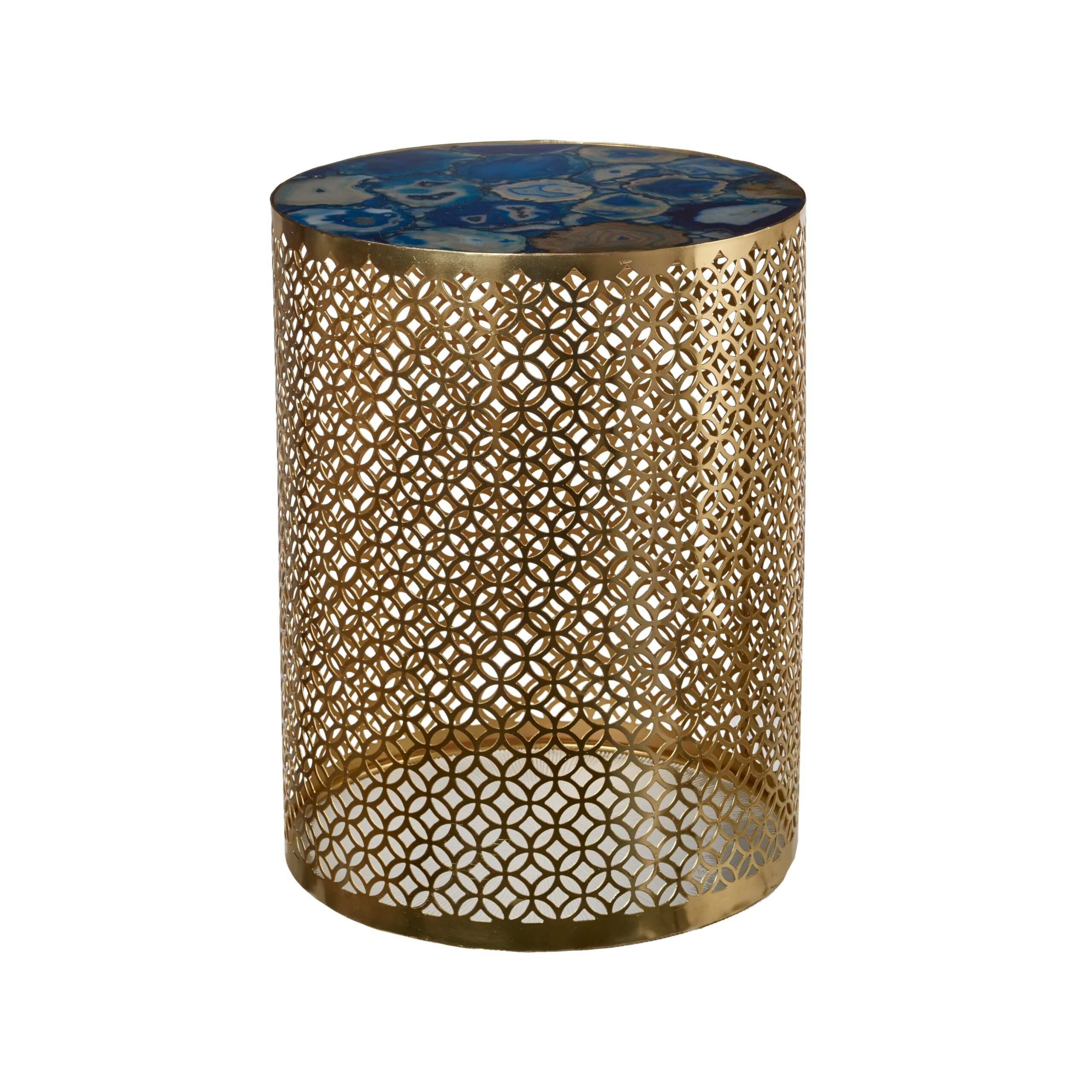 Agate Gold Side Table