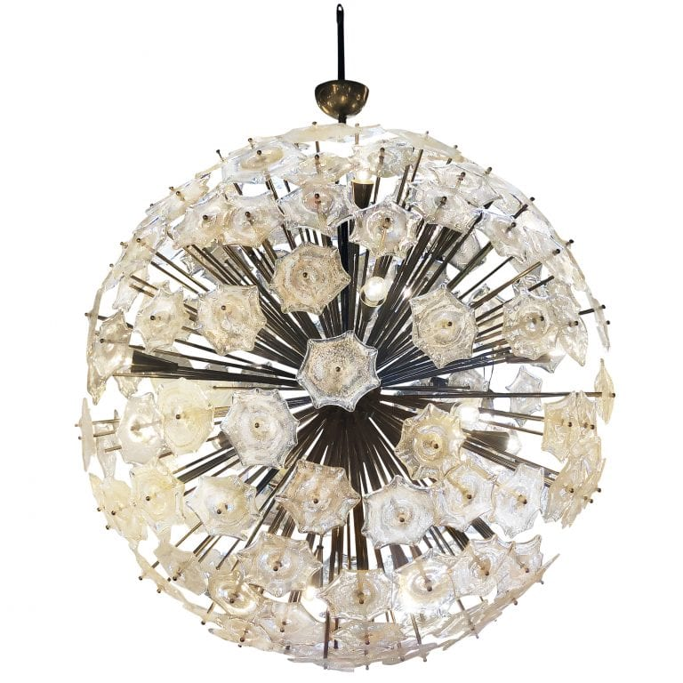 20th Century Italian Murano Glass Sputnik Chandelier