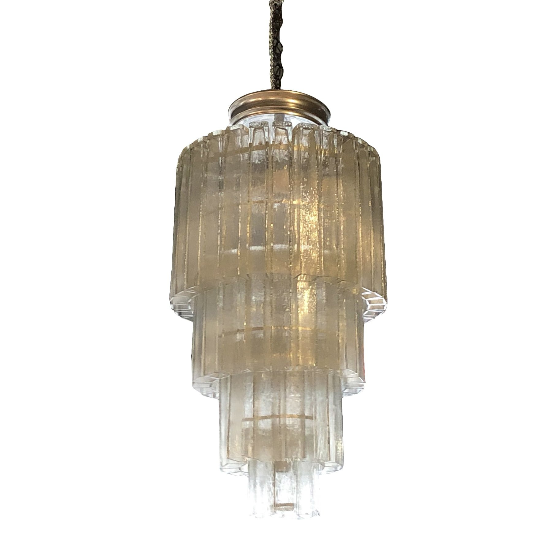 20th Century Italian Vintage Four-Tiered Murano Glass Chandelier
