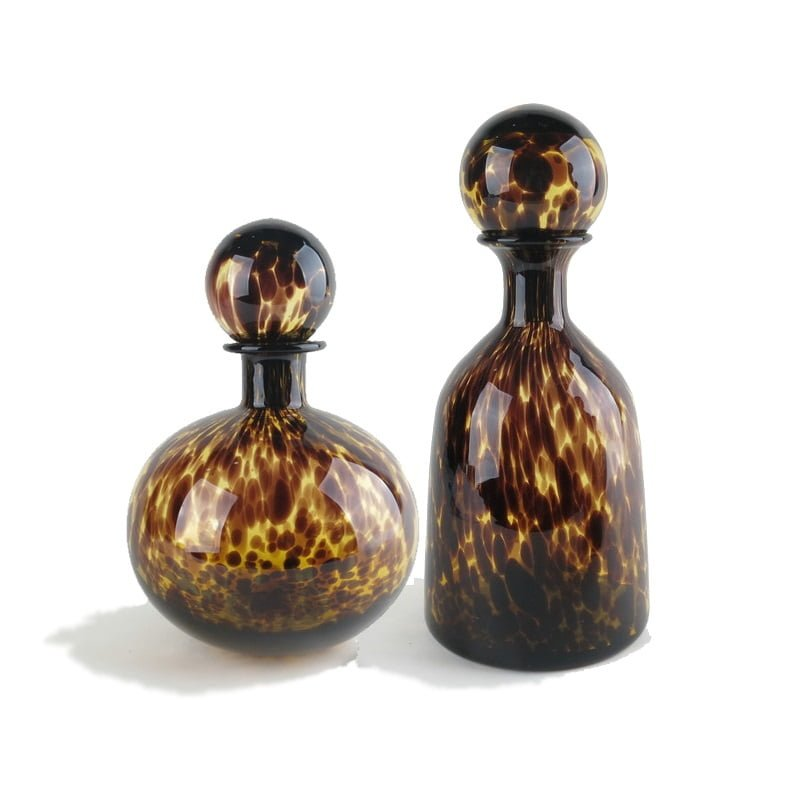 Pair of Glass Bottles Tortue