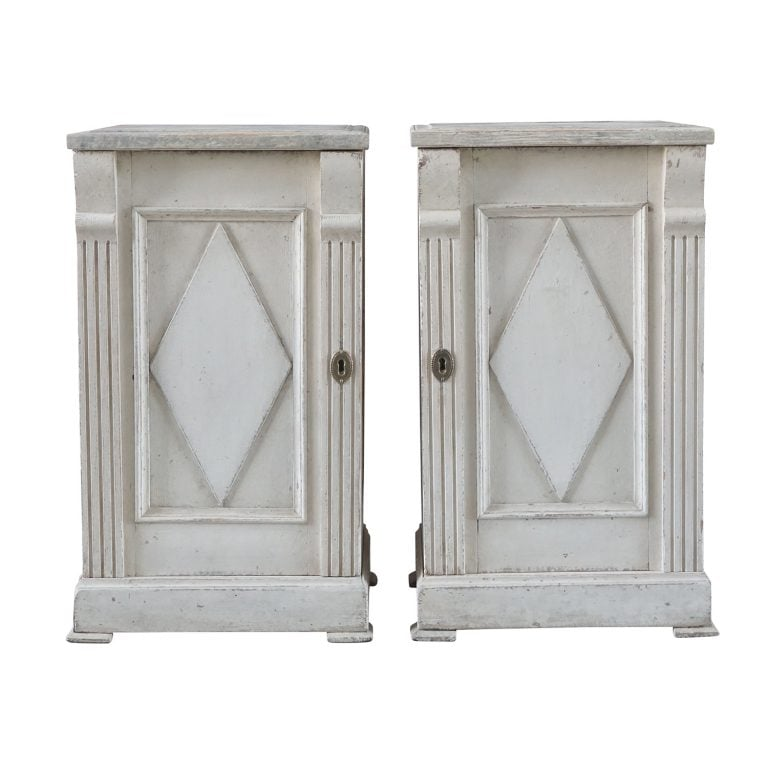 Pair of Gustavian Bedside Tables