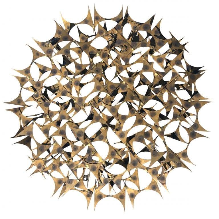 Brass Wall Sculpture by Marc Weinstein