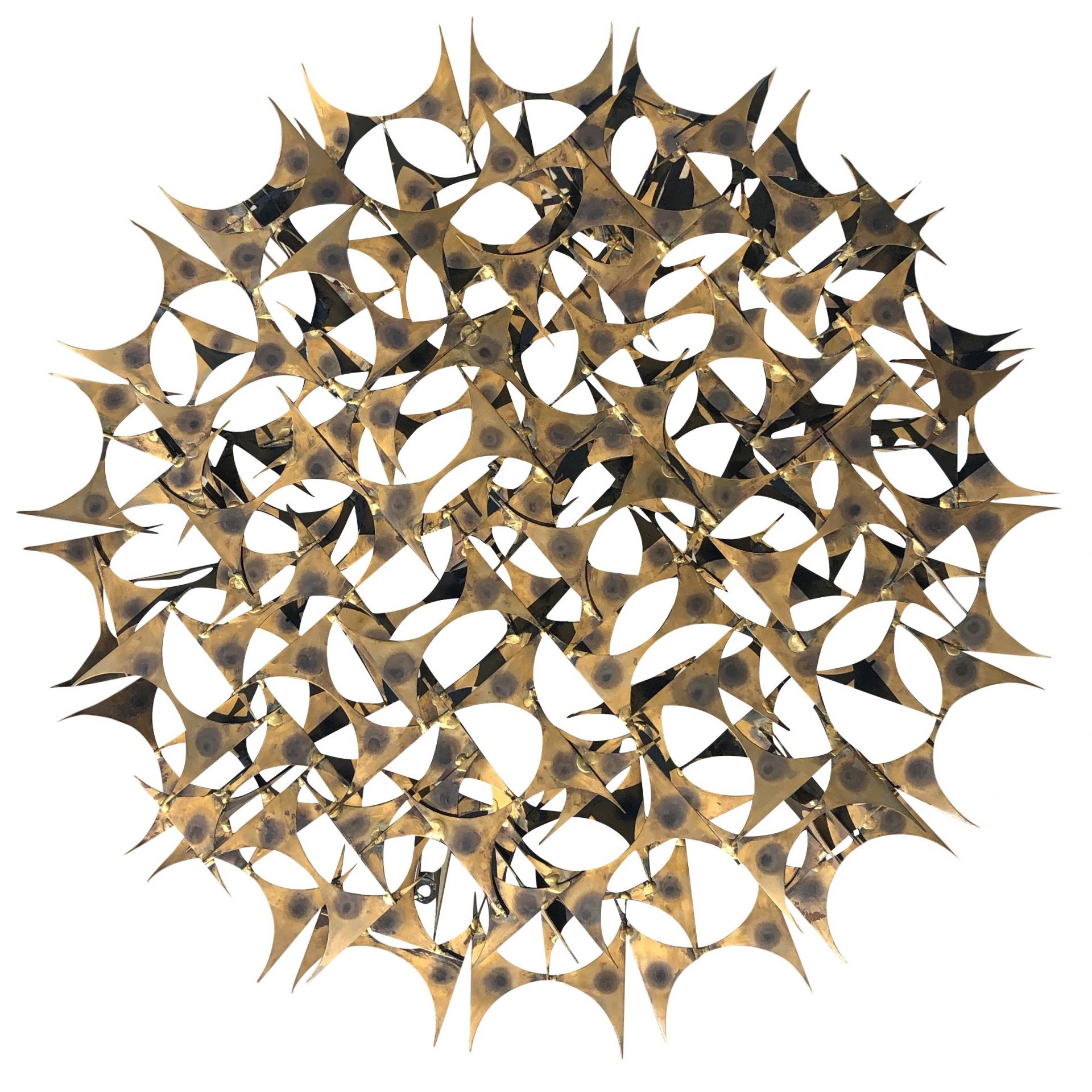 20th Century American Metal – Brass Wall Sculpture by Marc Weinstein