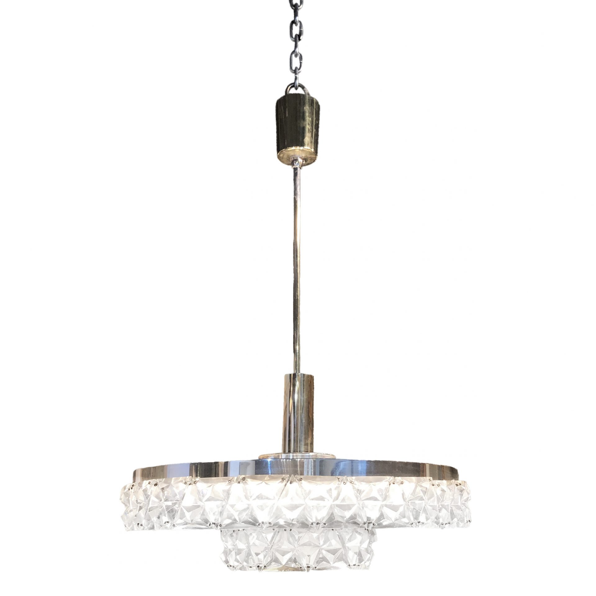 20th Century Orrefors Ceiling Lamp – Swedish Chandelier by Carl Fagerlund