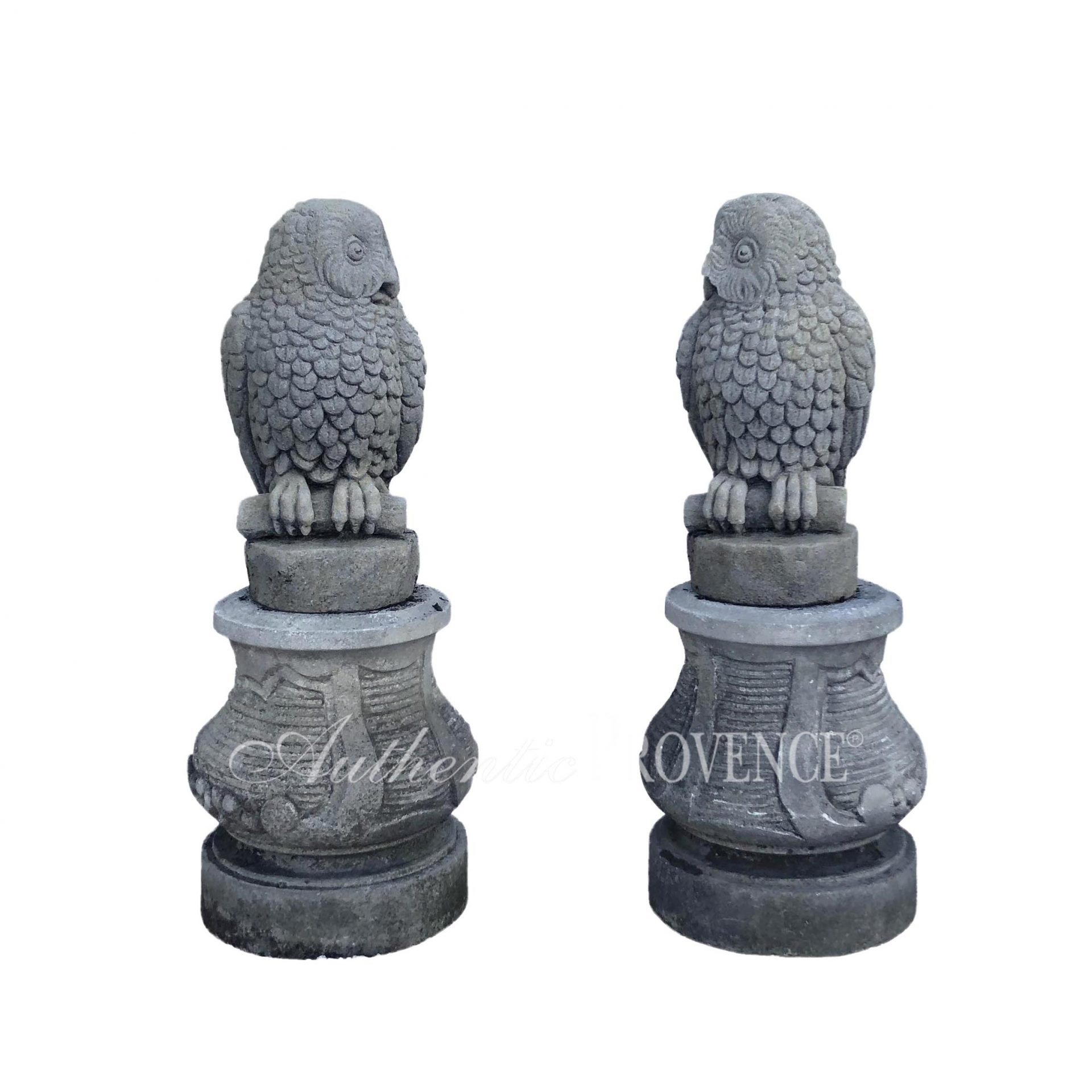 Pair of Limestone Owls