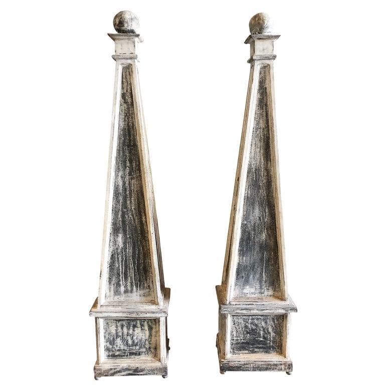 19th Century Pair of Swedish Obelisks
