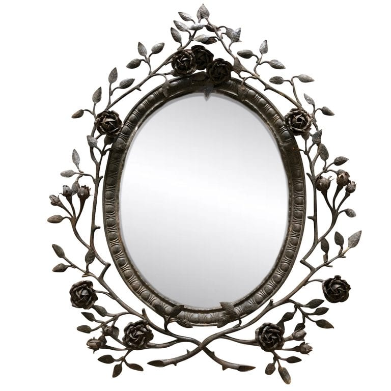 19th Century Small Oval Mirror
