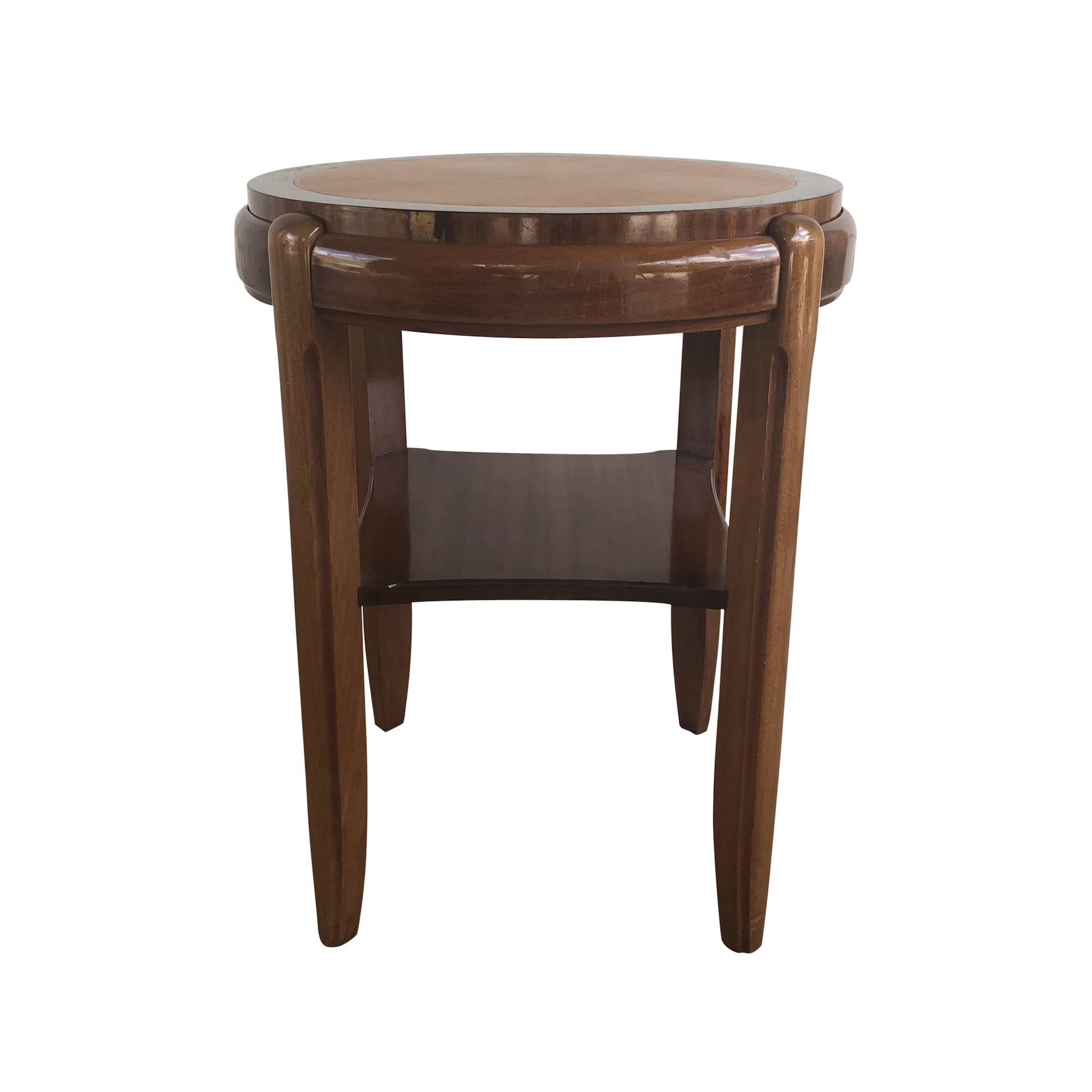 20th Century Occasional Round Art Deco Side Table – Small Italian End Table