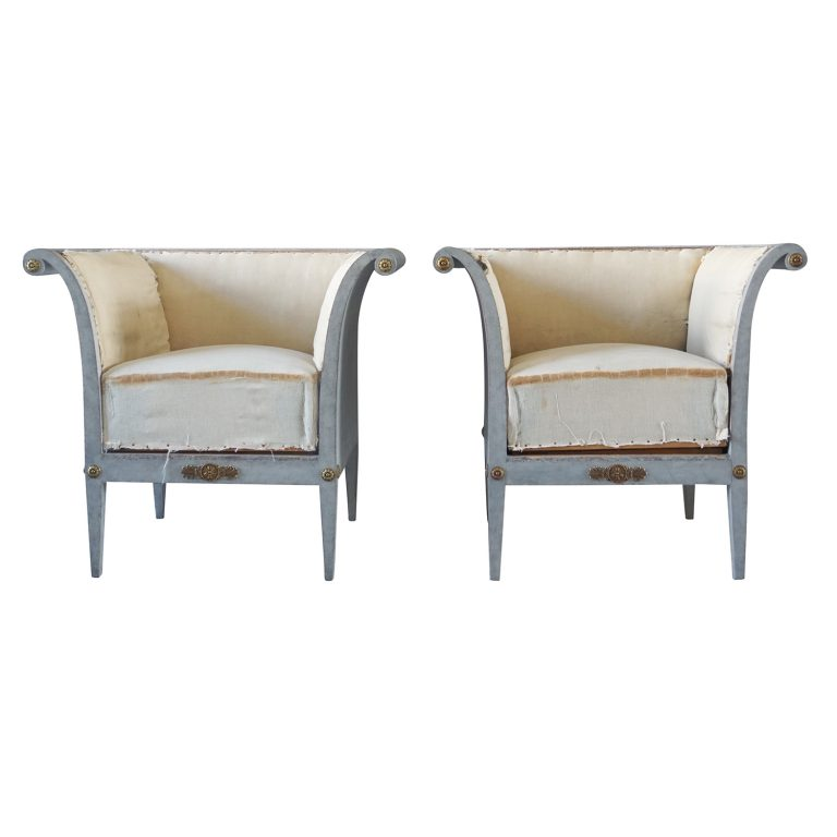 Pair of Bergères Fauteuils Chairs