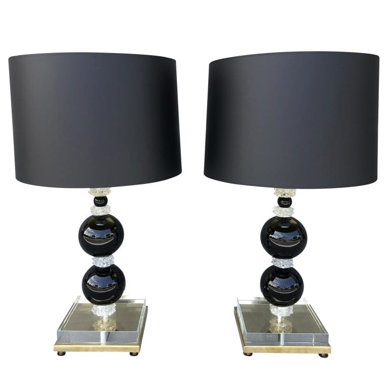 Pair of Murano Table Lamps by Nardo