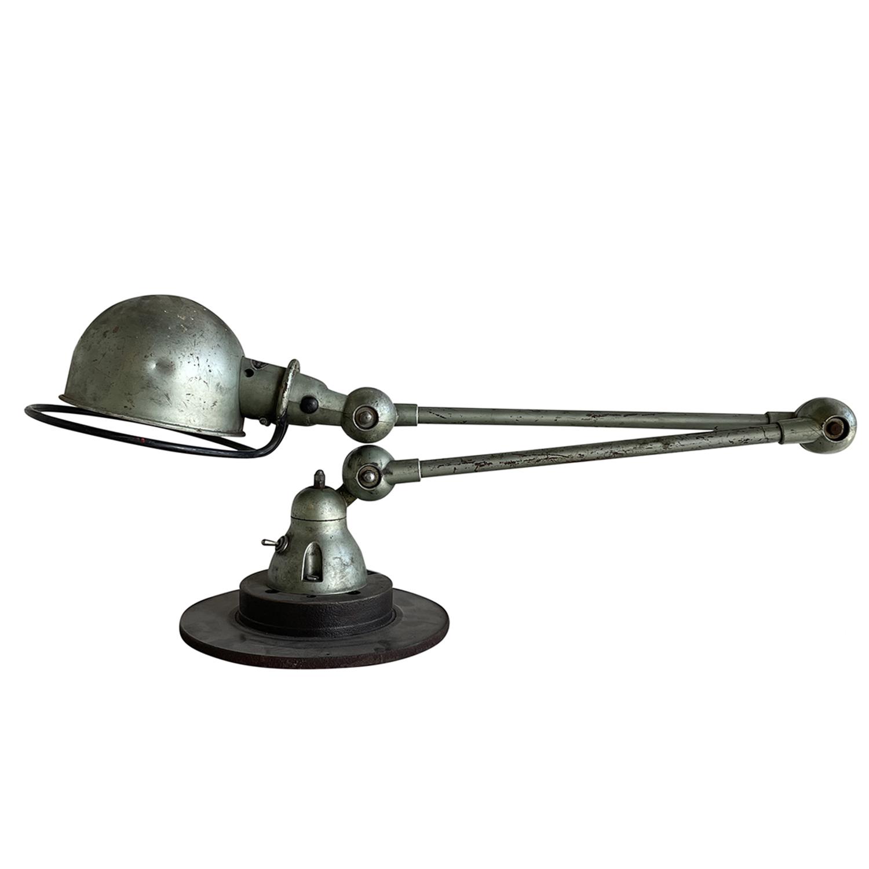 20th Century Metallic-Green French Jielde Metal Desk Lamp by Jean Louis Domecq