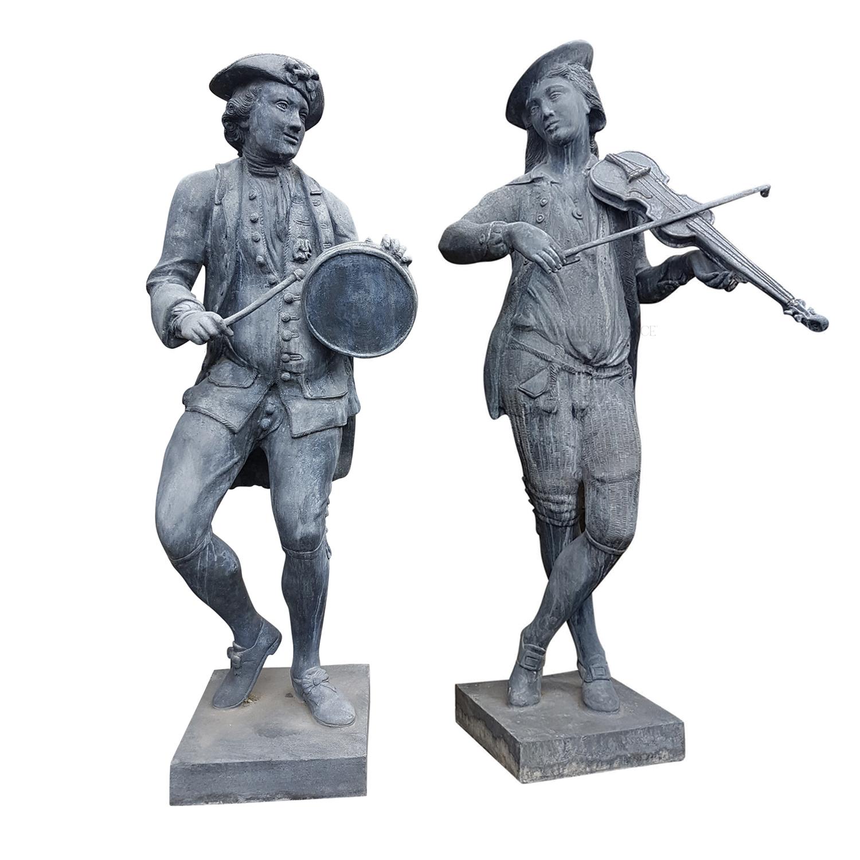 Pair of Romantic Garden Statues
