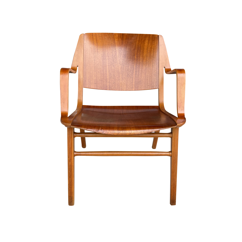 20th Century Danish Hansen Side Armchair by Peter Hvidt & Orla Mølgaard Nielsen
