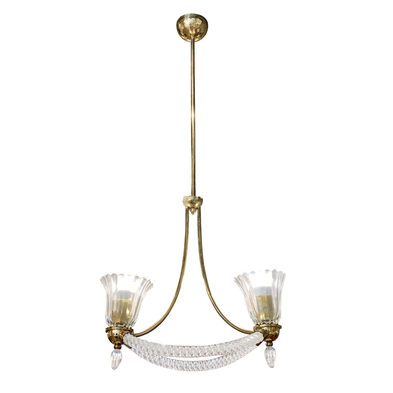 20th Century Italian Murano Glass Chandelier by Barovier & Toso